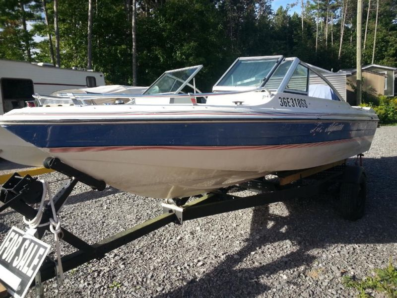 1988 17.5 ft sportcraft Riviera Bowrider and trailer SOLD