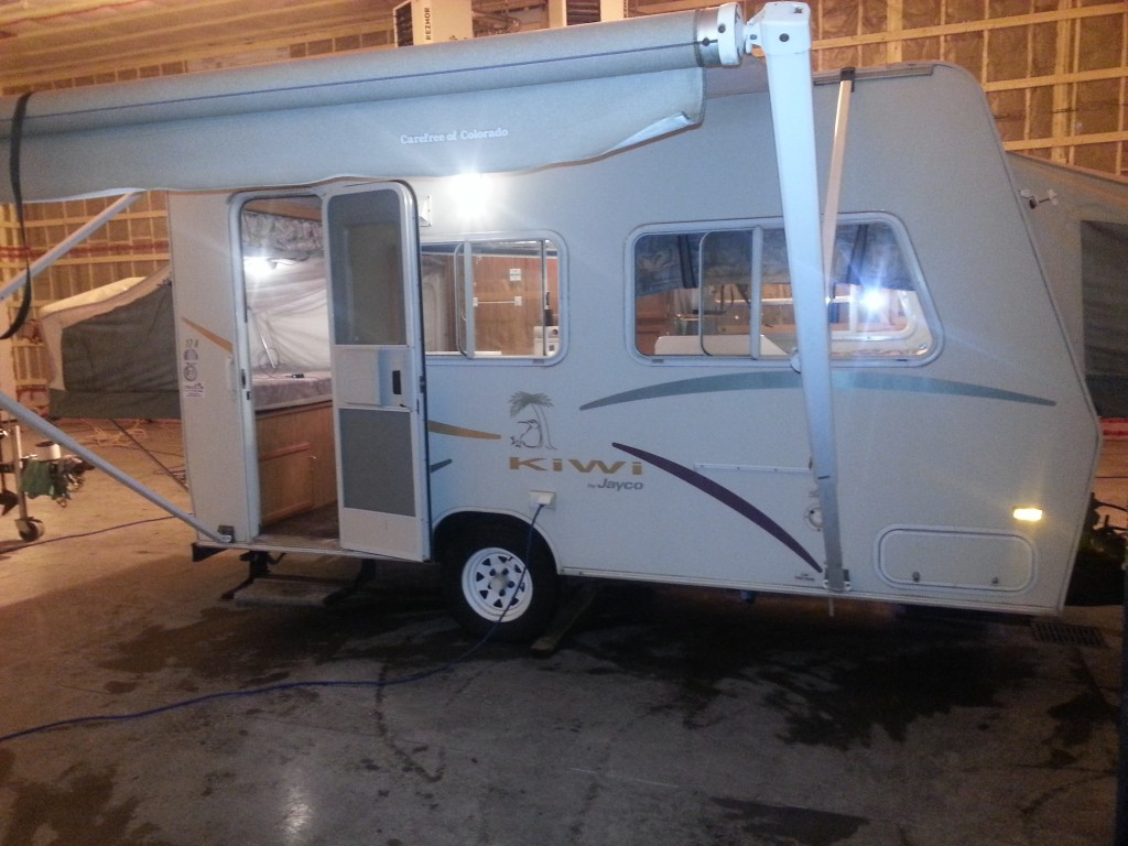 2001 Jayco Kiwi 17A Set up in heated shop! SOLD! |