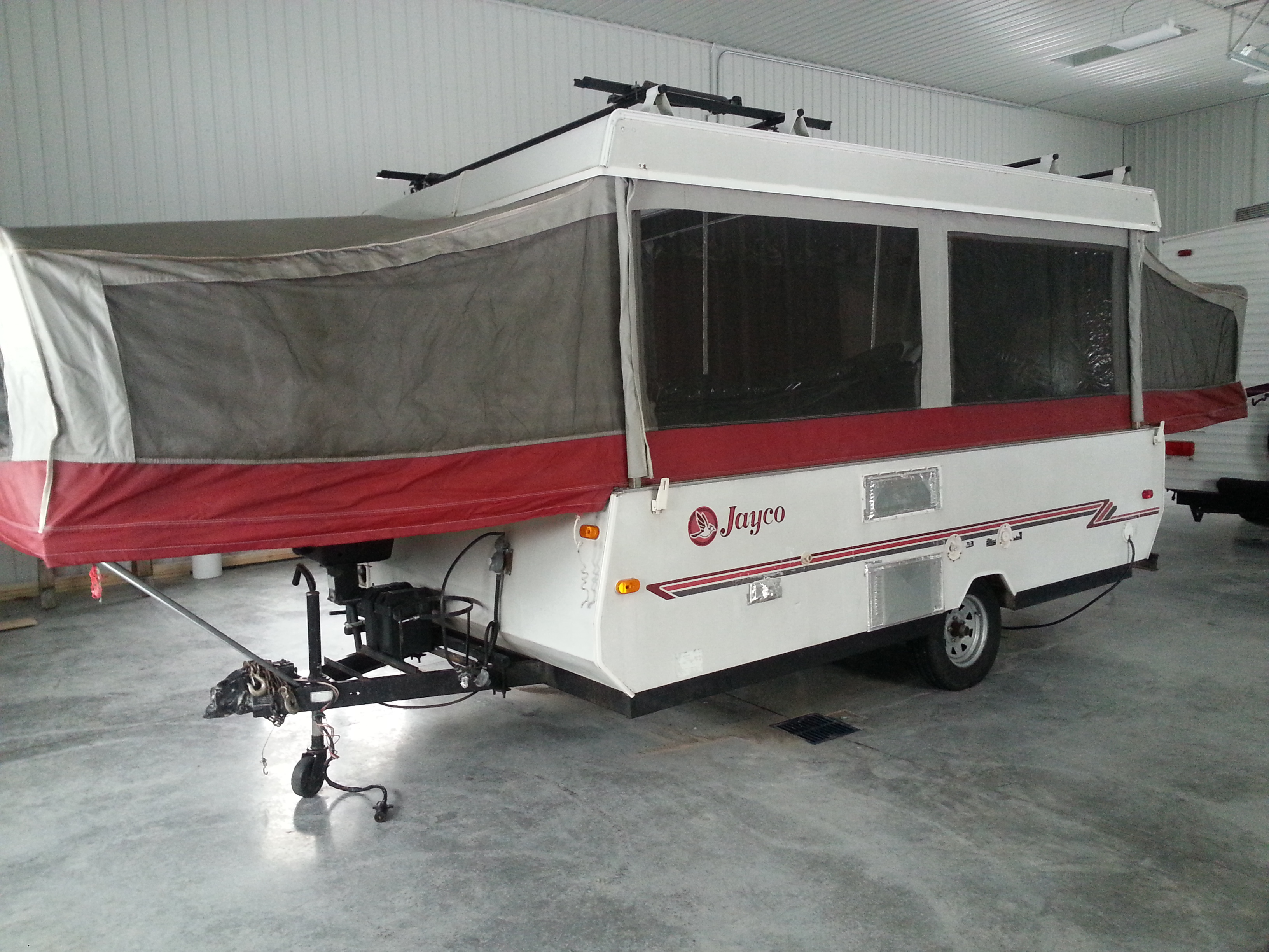 1997 Top notch 12 ft Jayco trailer – Clean!  SOLD