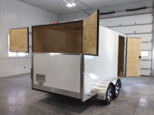 open back trailer